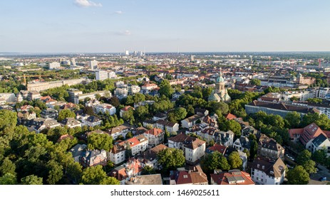 Aerial View Cityscape of Mannheim Germany