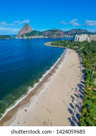Aerial view of cityscape, the Sugarloaf mountain, Atlantic ocean, flamengo bay,- Rio de Janeiro, Brazil
