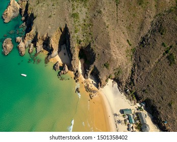 Aerial view of the cliff of Ky Co beach in Vietnam - Shutterstock ID 1501358402