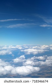 Aerial view of clouds over blue sky