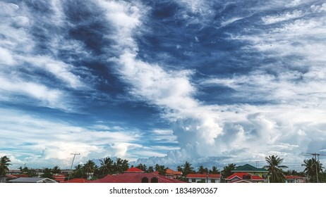Aerial view of the cloudscape sky