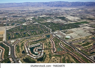 Aerial view of Coachella Valley, California