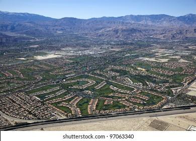 Aerial view of Coachella Valley, California