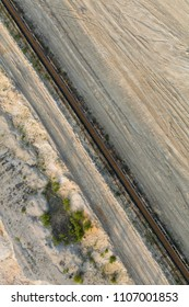 aerial view of coal mine in Poland