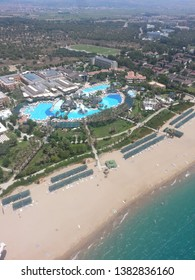 Aerial view of the coast of Antalya.
