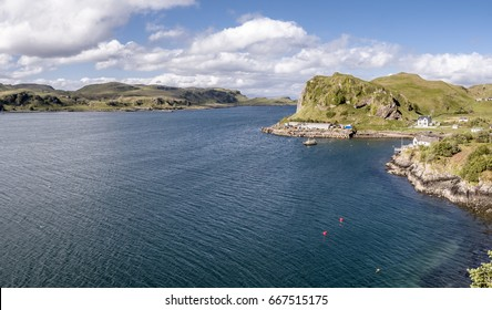 Aerial view of the coast between Gallanach and Oban, Argyll, Scotland