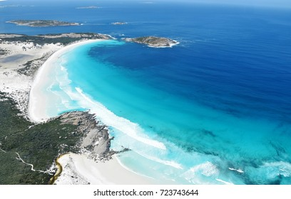 Aerial view of the coast in Cape Le Grand National Park, near Esperance, Western Australia