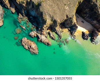 Aerial view of the coast of Ky Co beach in Vietnam - Shutterstock ID 1501357055