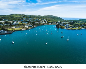 Aerial view of the coastal village of Baltimore, West Cork in Ireland.