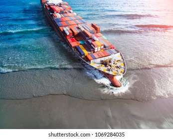 aerial view of commercial ship vessel sailing services from the sea step in through the land fro customers satisfy, CONCEPT services available at all location by logistcs transportation