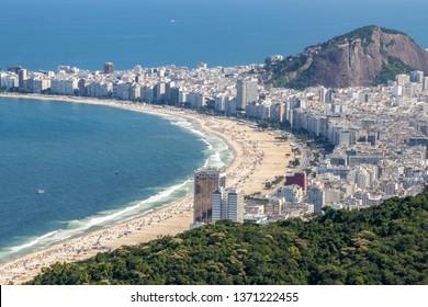 Aerial view of Copacabana, Rio de Janeiro