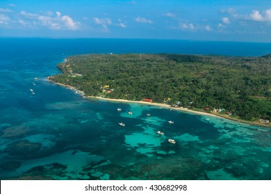 aerial view of Corn Island on Nicaragua caribbean