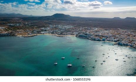 vista aérea de Coralejo fuerteventura