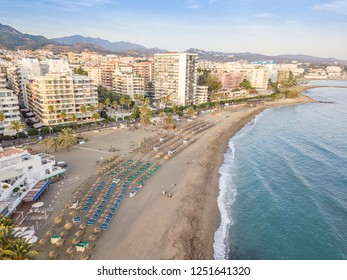 Aerial view of costa del sol in Marbella, Andalusia, Spain