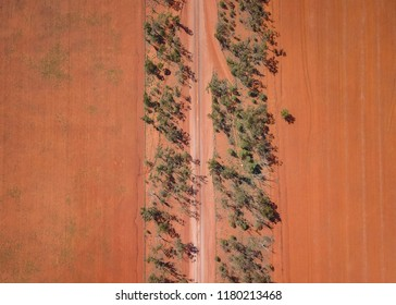 Aerial View of Country Road