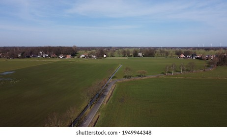 Aerial view of the countryside in Belgium