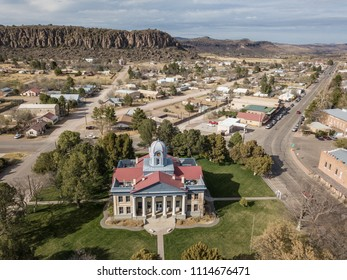 Aerial view of the Courthouse in Fort Davis, TX