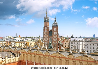 Aerial view of Cracow, Poland