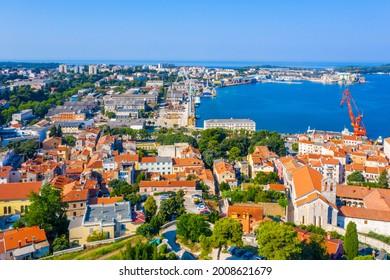Aerial view of Croatian town Pula