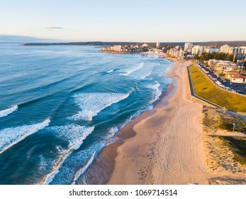 Aerial view of Cronulla, Sydney coastline.