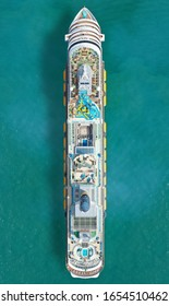 Aerial view if a cruiseship