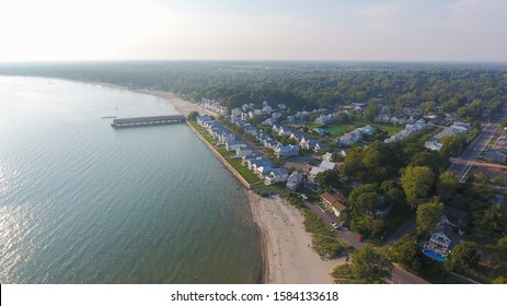 Aerial view of Crystal Beach in Fort Erie, Ontario, Canada