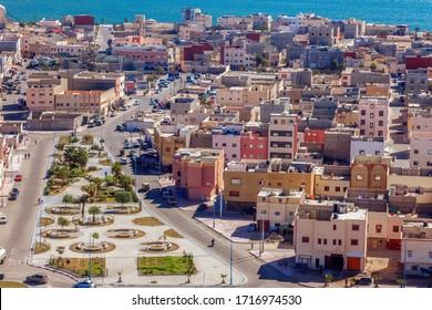 Aerial view of Dakhla. Dakhla, Western Sahara, Morocco. - Shutterstock ID 1716974530
