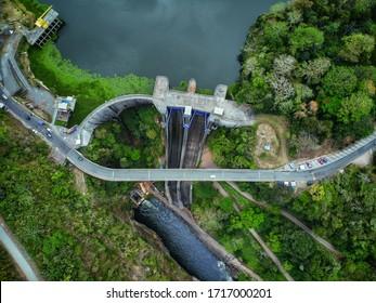 aerial view of dam in Cachi, Costa Rica