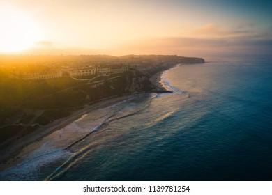 Aerial View of Dana Point Coastline at Sunrise, California, USA