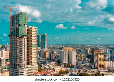 aerial view of the dar es salaam skyline