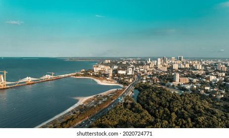 Aerial view of Dar es Salaam city