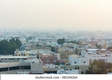 Aerial view of Dawn of Riyadh with buildings