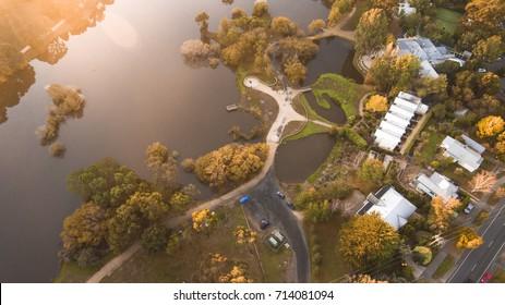 Aerial View of Daylesford, Australia