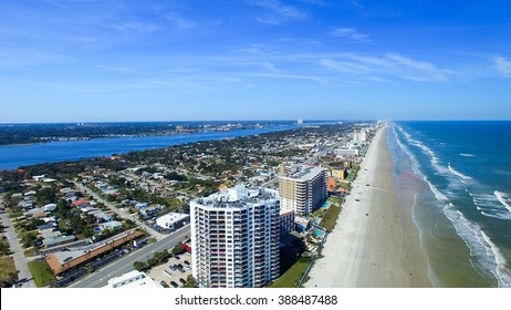 Aerial view of Daytona Beach