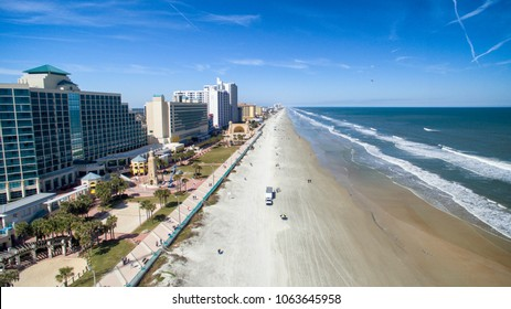 Aerial view of Daytona Beach, Florida.
