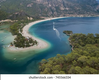 Aerial View of Dead Sea in Fethiye
