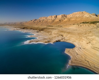 Aerial view of the Dead Sea in Israel