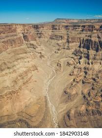 Aerial View of Desert GrandCanyon valley