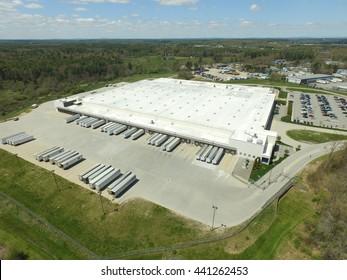 Aerial view of distribution hub