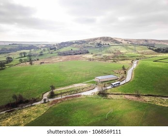 Aerial view of Dog Hill above Rishworth, Calderdale, West Yorkshire, UK