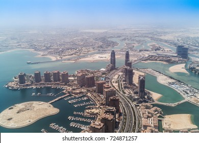 Aerial view of Doha, Qatar - august, 25, 2017