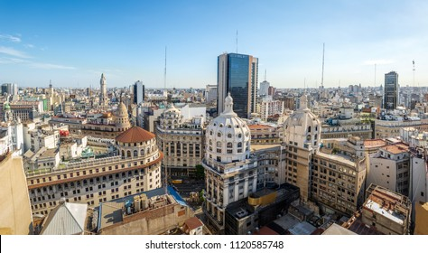 Aerial view of downtown Buenos AIres in high resolution - Buenos Aires, Argentina