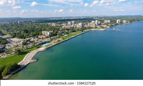Aerial view of downtown Burlington, Ontario (Canada).
