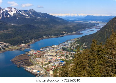 Aerial view of Downtown Juneau, Alaska