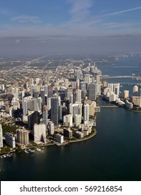Aerial view of downtown in Miami, Florida