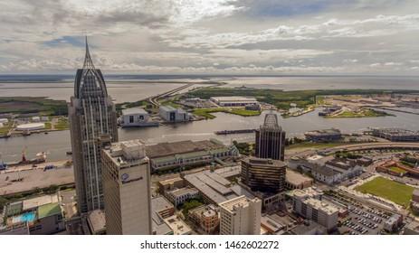 Mobile Alabama Skyline Images, Stock Photos & Vectors