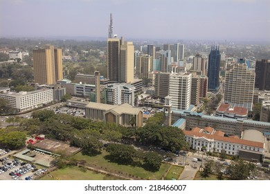 aerial view of downtown Nairobi, Kenya