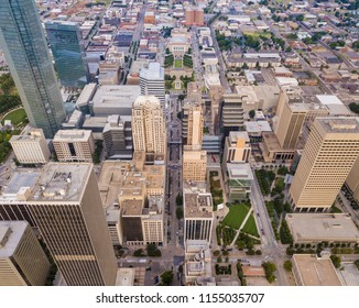 Aerial view of downtown Oklahoma City.