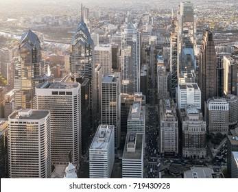 Aerial view of downtown Philadelphia