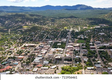 Aerial view of Downtown Prescott, Arizona